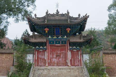 Gangu, CHINA - OCT 10 2014: Jiang Wei Temple in Gangu, Tianshui, Gansu, China. Jiang Wei(202–264) was a famous military general.