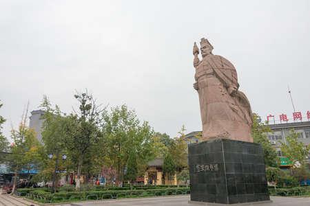 CHENGGU, CHINA - NOV 8 2014: Statue of Zhang Qian, Chenggu, Hanzhong, Shanxi, China. Zhang Qian(?-114 BCE) was a famous Explorer and diplomat. Editorial