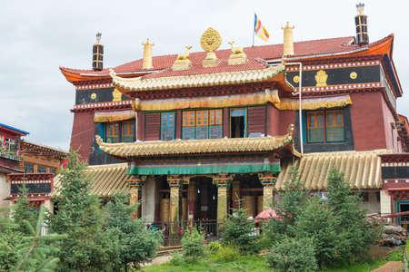 SICHUAN, CHINA - JUL 15 2014: Degongbu Temple(Temple of the Hans). a famous Lamasery in Ganzi, Sichuan, China.