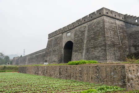 ancient pass: SHAANXI, CHINA - NOV 4 2014: Yangping Pass. a famous  Historic Sites in Mianxian County, Shaanxi, China. Editorial