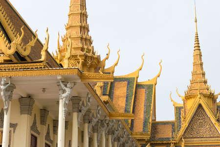 phnom penh: Phnom Penh, Cambodia - Jan 30 2015: Royal Palace. a famous Historical site in Phnom Penh, Cambodia. Editorial