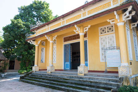 Hue, Vietnam - Jan 23 2015: Phan Boi Chau memorial Museum. He was a well-known patriot, theorist, poet, and a writer of Vietnam in the beginning of 20th century.