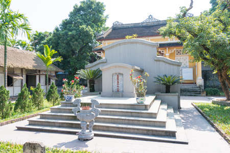 theorist: Hue, Vietnam - Jan 23 2015: Tomb of Phan Boi Chau(1867-1940). He was a well-known patriot, theorist, poet, and a writer of Vietnam in the beginning of 20th century.