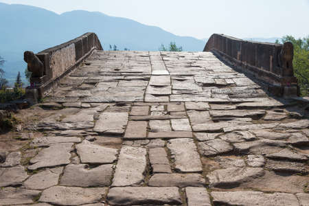 river county: Yujin Bridge at Shaxi Ancient village. a famous Ancient village of Jianchuan, Yunnan, China.