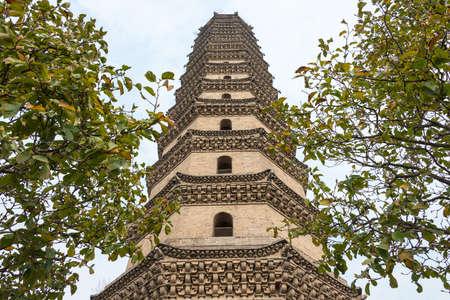 Xuchang Wenfeng Tower at Xuchang Pagoda Culture Museum. a famous historic site in Xuchang, Henan, China.