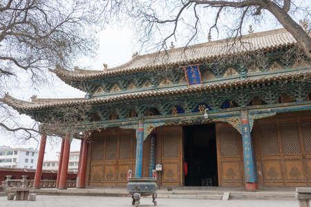 wen: GANSU, CHINA - Apr 08 2015: Wuwei Confucian Temple (Wuwei Wen Miao). a famous historic site in Wuwei, Gansu, China. Stock Photo