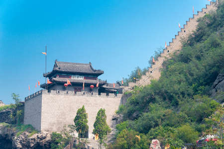 ninth: SHANXI, CHINA - Sept 15 2015: Niangzi Pass(Niangziguan). was famed as the Ninth Pass on the Great wall in Pingding, Yangquan, Shanxi, China.