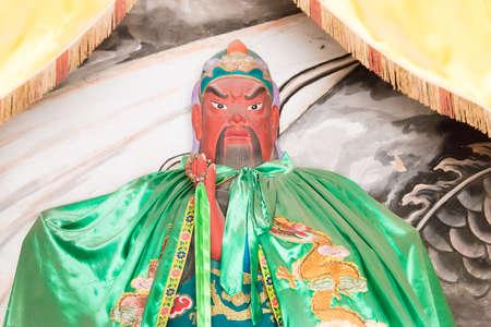 SHANXI, CHINA -  Aug 23 2015: Guanyu Statue at Emperor Shun Tomb Soenic Spot. a famous historic site in Yuncheng, Shanxi, China. Editorial