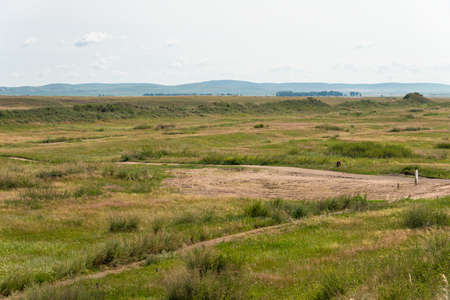 huh: INNER MONGOLIA, CHINA - Aug 10 2015: Site of Xanadu (World Heritage site). a famous historic site in Zhenglan Banner, Xilin Gol, Inner Mongolia, China. Stock Photo