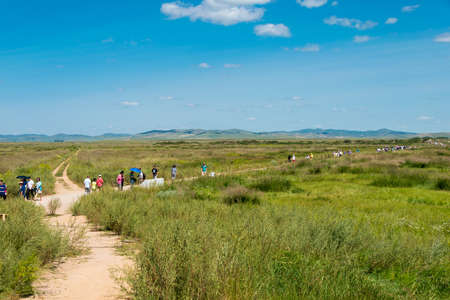 tourist site: INNER MONGOLIA, CHINA - Aug 10 2015: Site of Xanadu (World Heritage site). a famous historic site in Zhenglan Banner, Xilin Gol, Inner Mongolia, China. Editorial