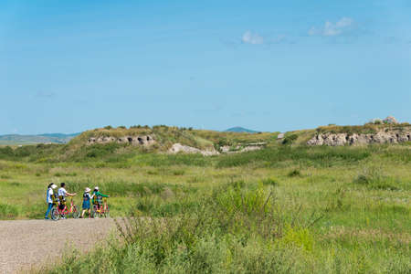 huh: INNER MONGOLIA, CHINA - Aug 10 2015: Site of Xanadu (World Heritage site). a famous historic site in Zhenglan Banner, Xilin Gol, Inner Mongolia, China. Editorial