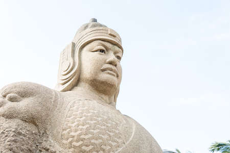 FUJIAN, CHINA - Dec 31 2015: Zheng Chenggong Statue at The Zheng Chenggong Memorial Hall. a famous historic site in Quanzhou, Fujian, China.