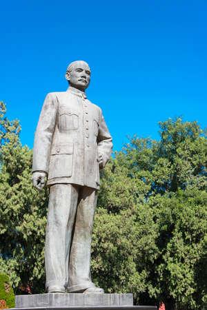 BEIJING, CHINA - Oct 11 2015: Sun Yat-sen Statue at Zhongshan Park. a famous historic site in Beijing, China.