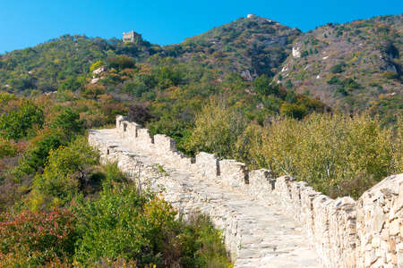 BEIJING, CHINA - Oct 15 2015: Yunmeng Moutain Section of The Great Wall. a famous historic site in Beijing, China.