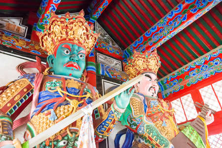 LIAONING, CHINA - Aug 05 2015: Buddha statues at Shisheng Temple. Was built to the specifications of an emperor in the Qing Dynasty