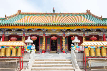 LIAONING, CHINA - Aug 05 2015: Shisheng Temple. was built to the specifications of an emperor in the Qing Dynasty. a famous historic site in Shenyang, Liaoning, China.