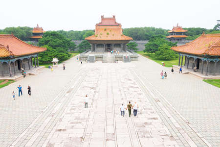 LIAONING, CHINA - Jul 31 2015: Zhaoling Tomb of the Qing Dynasty(UNESCO World Heritage site). a famous historic site in Shenyang, Liaoning, China.