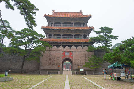 empress: LIAONING, CHINA - Jul 31 2015: Fuling Tomb of the Qing Dynasty(UNESCO World Heritage site). a famous historic site in Shenyang, Liaoning, China.