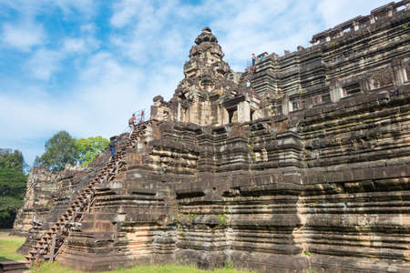 Siem Reap, Cambodia - Dec 10 2016: Baphuon Temple in Angkor Thom.