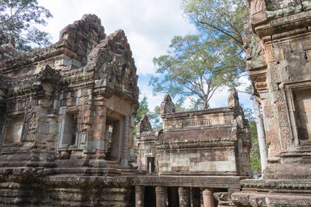 Siem Reap, Cambodia - Nov 30 2016: Chau Say Tevoda in Angkor. a famous Historical site in Angkor, Siem Reap, Cambodia.