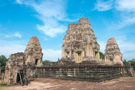 Siem Reap, Cambodia - Dec 11 2016: East Mebon in Angkor. a famous Historical site in Angkor, Siem Reap, Cambodia.