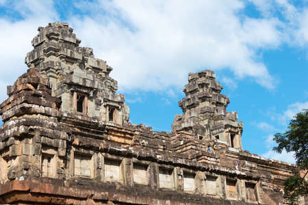 Siem Reap, Cambodia - Nov 30 2016: Ta Keo Temple in Angkor. a famous Historical site(UNESCO World Heritage) in Angkor, Siem Reap, Cambodia.