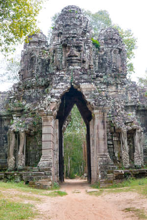 Siem Reap, Cambodia - Dec 13 2016: Gate of the Dead in Angkor Thom. a famous Historical site in Angkor, Siem Reap, Cambodia.
