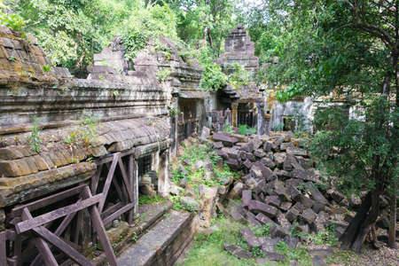 Siem Reap, Cambodia - Dec 03 2016: Beng Mealea. a famous Historical site in Siem Reap, Cambodia.