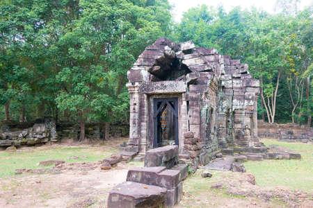 Siem Reap, Cambodia - Dec 13 2016: Krol Ko in Angkor. Publikacyjne