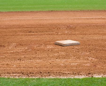 base on infield of a baseball field