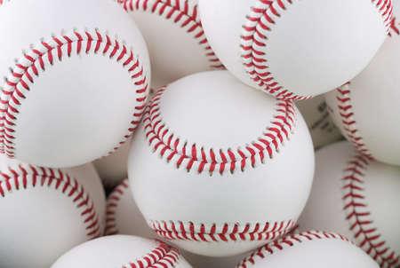 multiple: Multiple Baseballs Stock Photo