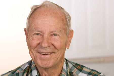 Portrait of a happy senior citizen man