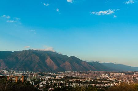 caracas: landscape view of caracas with clear blue sky and avila