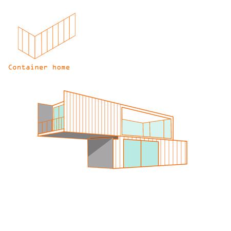 vettore di casa contenitore isolato