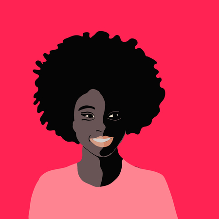 Portrait of a beautiful African America woman with attitude in vector format Wearing sunglasses