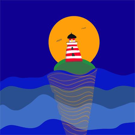 landscape summer night poster vector