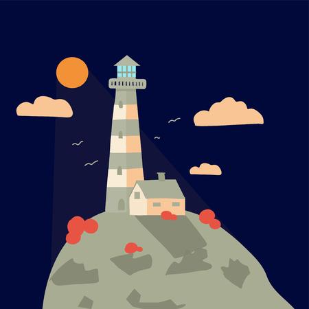 landscape summer poster vector