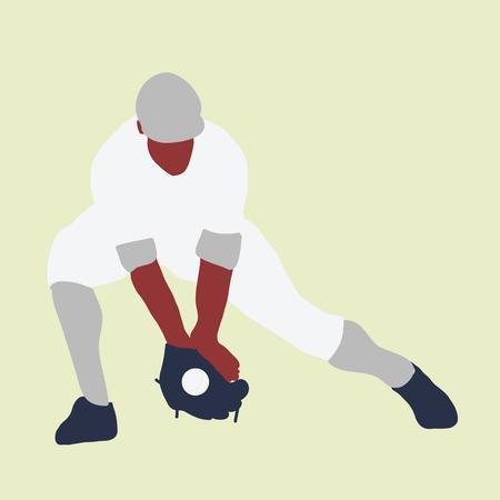 baseball player better on field. Vector flat illustration 스톡 콘텐츠 - 120981891