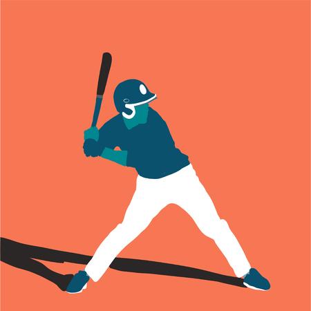 baseball player better on field. Vector flat illustration 스톡 콘텐츠 - 120981913