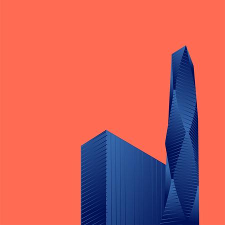 isometric buildings Skyscraper, cityscape, cityscene. isometric construction vector illustration Illustration