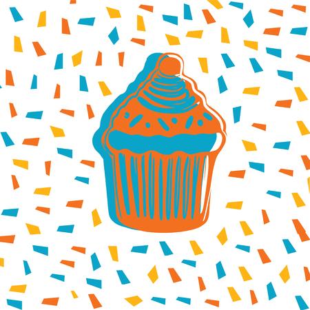 sweet glaze donut kawaii style vector illustration 일러스트