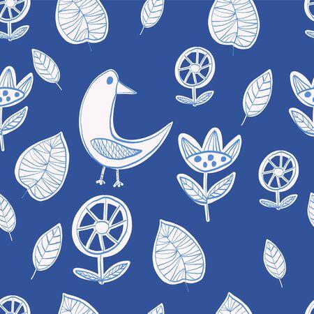 Simple scandinavian pattern primiyive naive style minimalistic vector Illustration