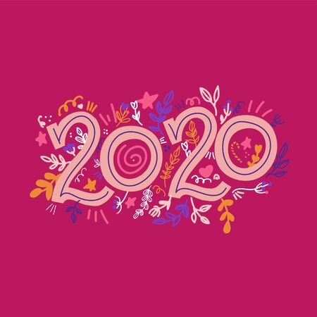 Happy New Year 2020 golden poster. gold gift card or banner. Greeting template new year. Vector illustration