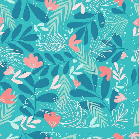 hand drawn floral vector background  イラスト・ベクター素材