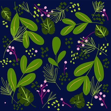 hand drawn floral vector background Illusztráció