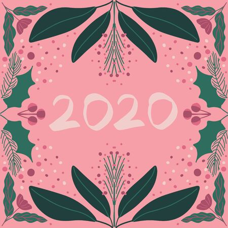 Modern new year card art deco style vector Stock Vector - 134749211