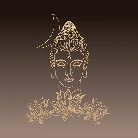 Buddhism esoteric motifs on brown