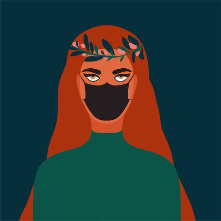 people wear protect mask vector  Illusztráció