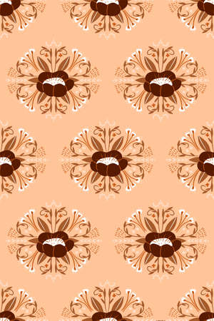 Vector seamless floral damask pattern. Rich ornament, old Damascus style. Illusztráció