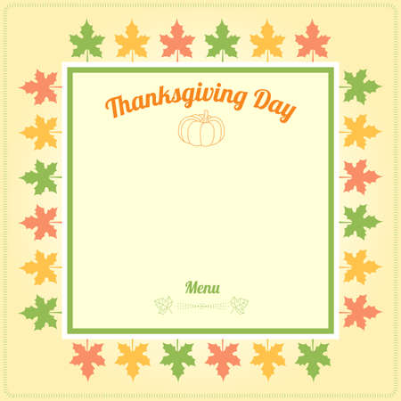 thanksgiving menu: Thanksgiving day menu template in vector
